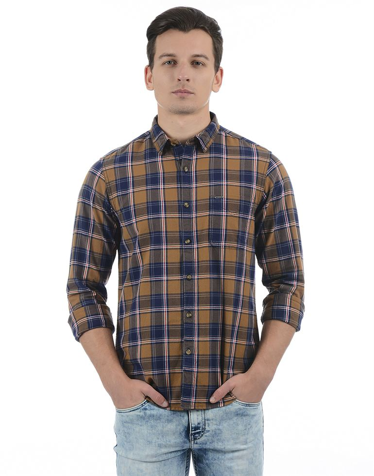 Pepe Jeans Men Checkered Multicolor Shirt