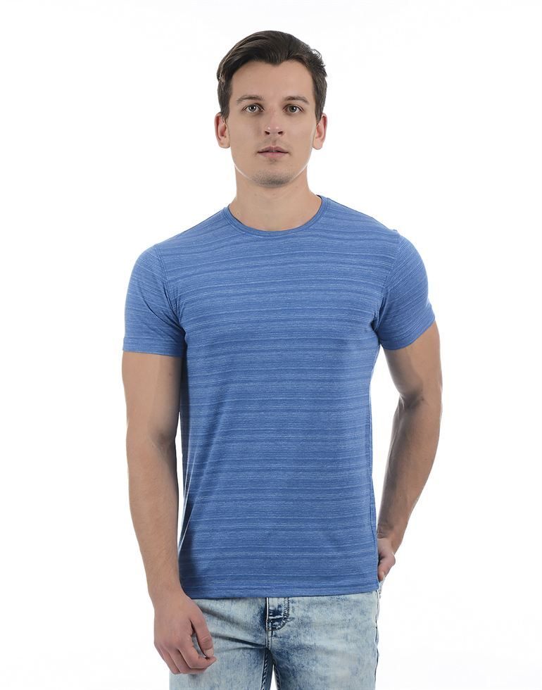 Pepe Jeans Men Solid Blue T-Shirt