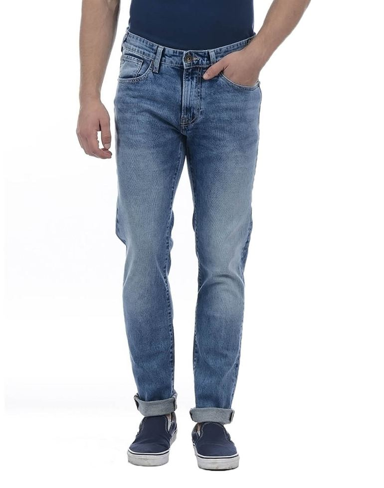 Pepe Jeans Men Solid Blue Jean