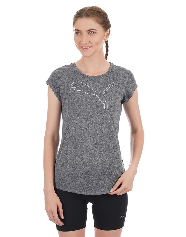 Puma Women Casual Wear Solid T-Shirt