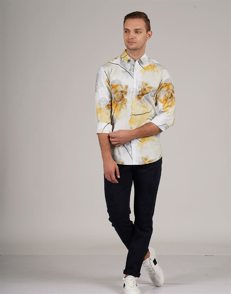 Selected Men Casual Wear Printed Shirt