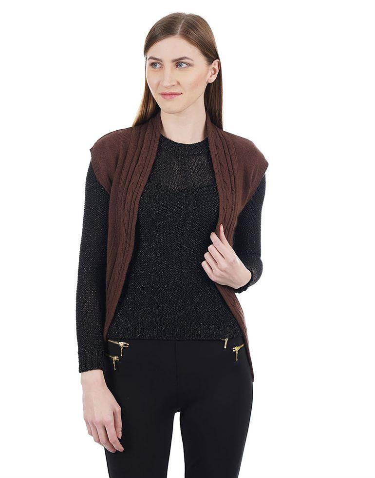 Species Women Casual Wear Self Design Shrug