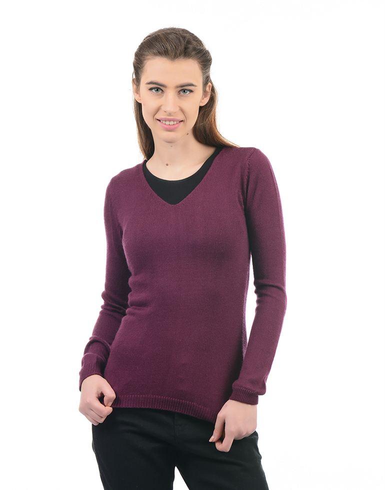 Species Women Purple Sweater
