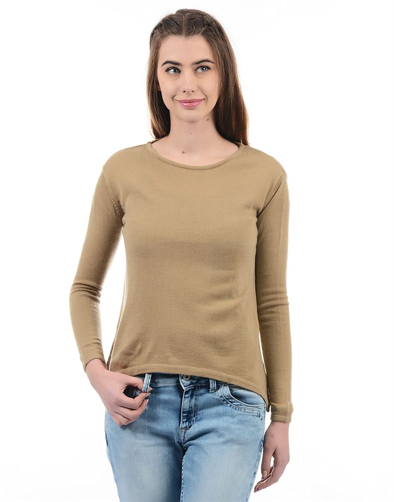 Species Women Casual Wear Solid Pullover