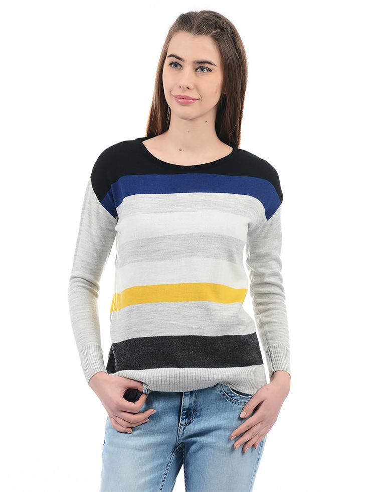 Species Casual Striped Women Pullover