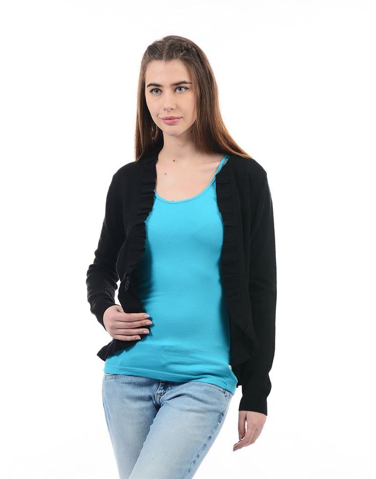 Species Women Casual Wear Solid Shrug