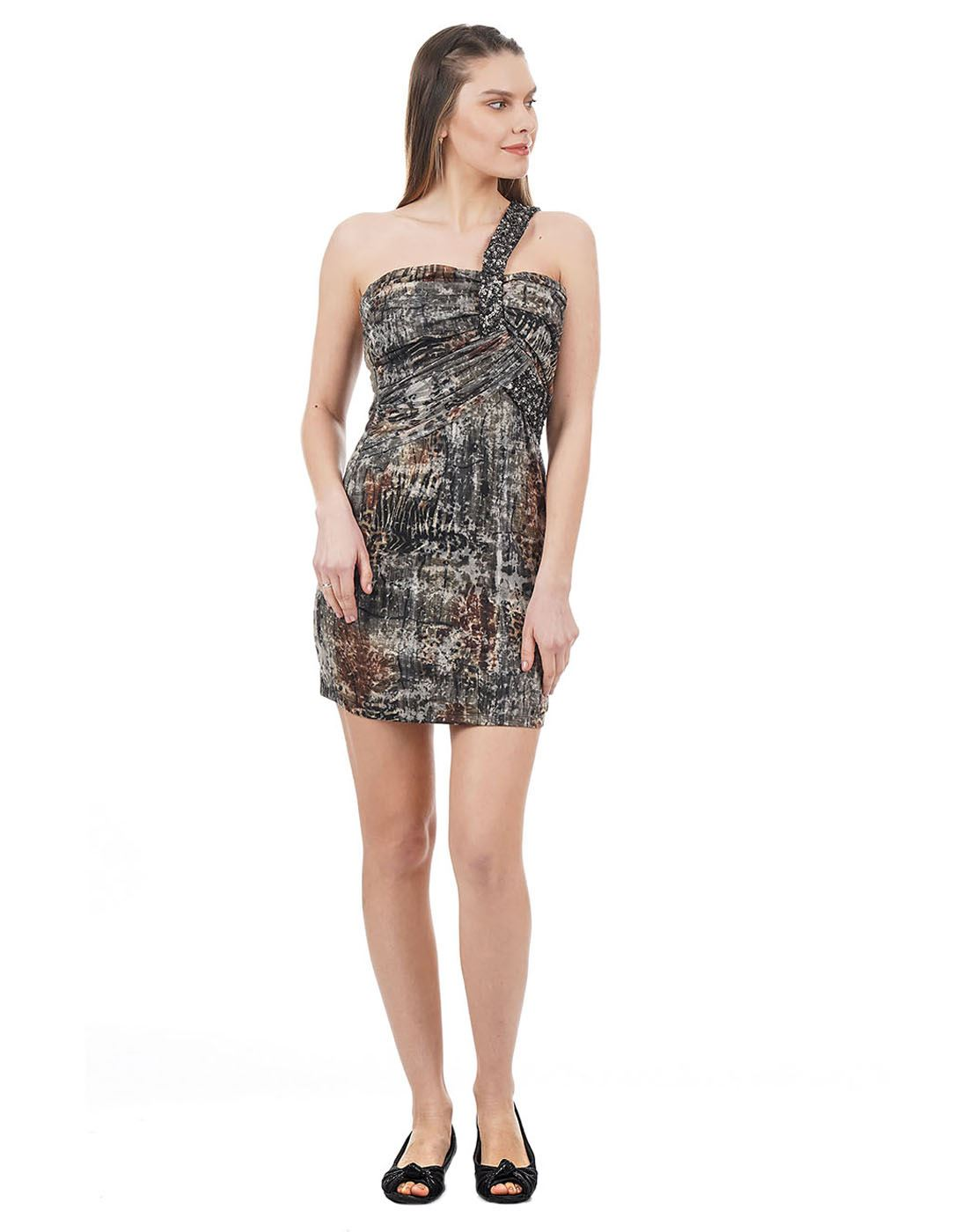 Species Women Brown Printed Dress