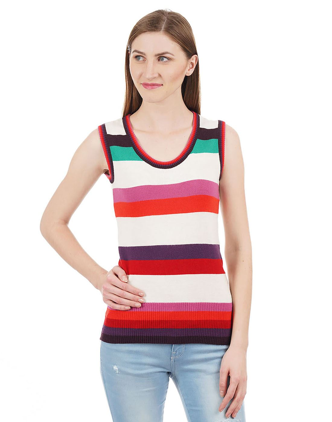 Species Women Multicolor Striped Sweater