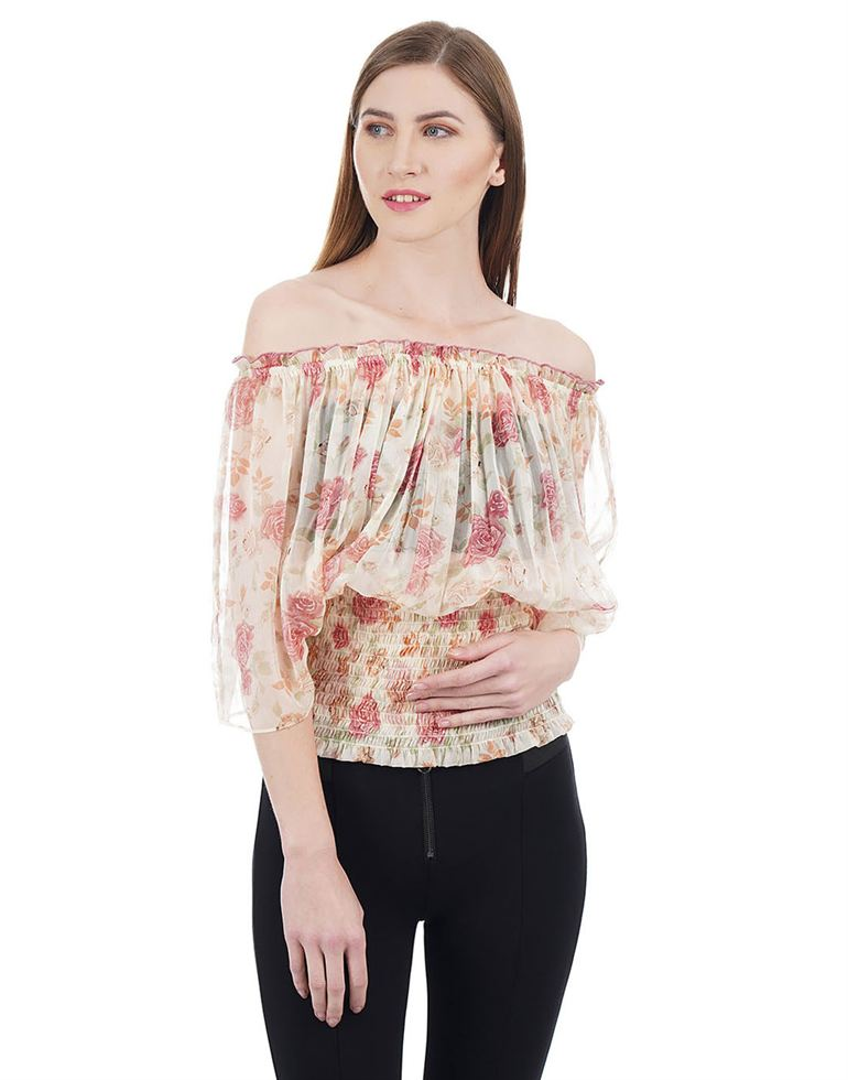 Species Casual Floral Print Women Top