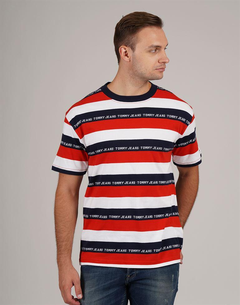 Tommy Hilfiger Men Casual Wear Striped T-Shirt