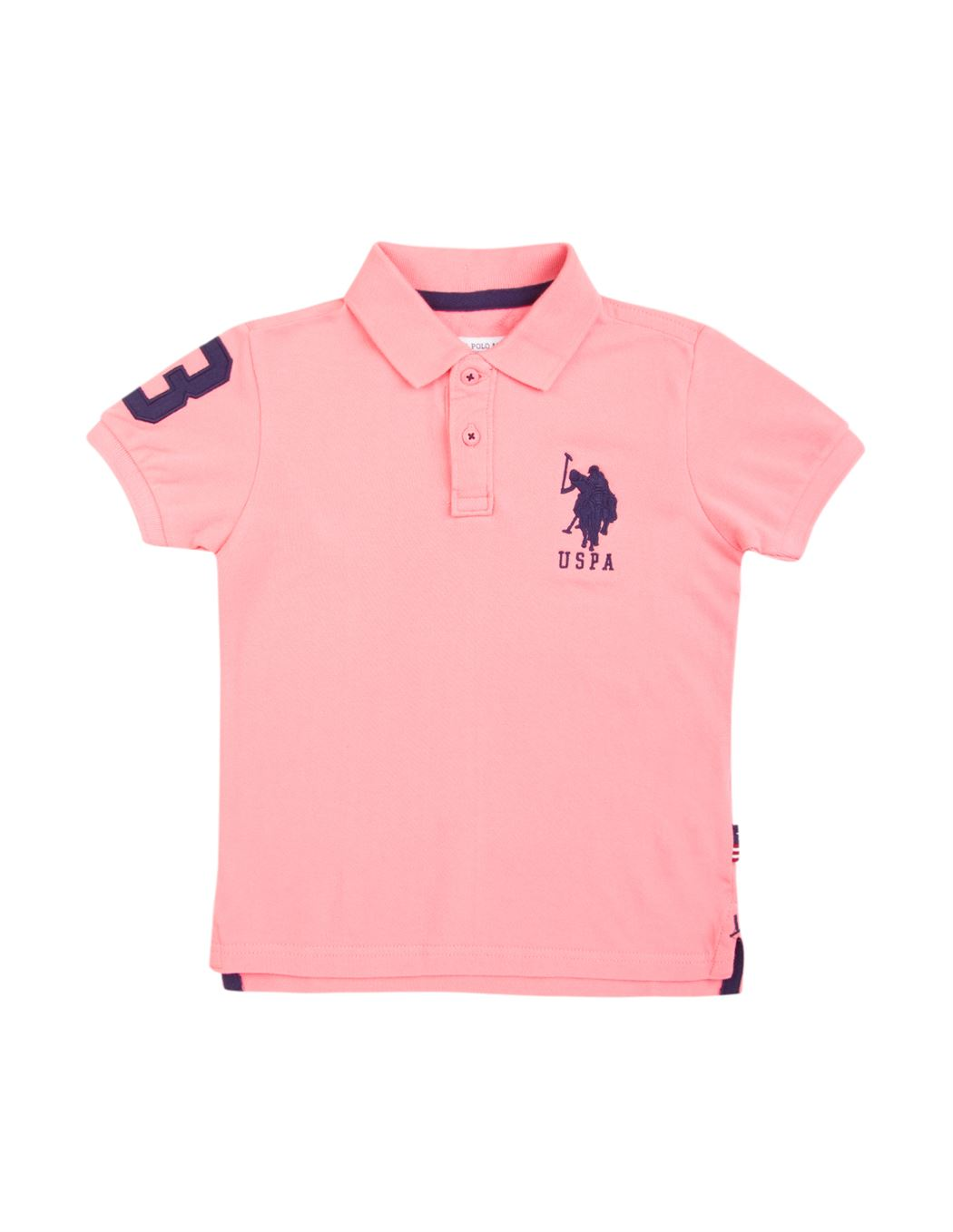 U.S. Polo Assn. Casual Wear Solid Boys T-Shirt
