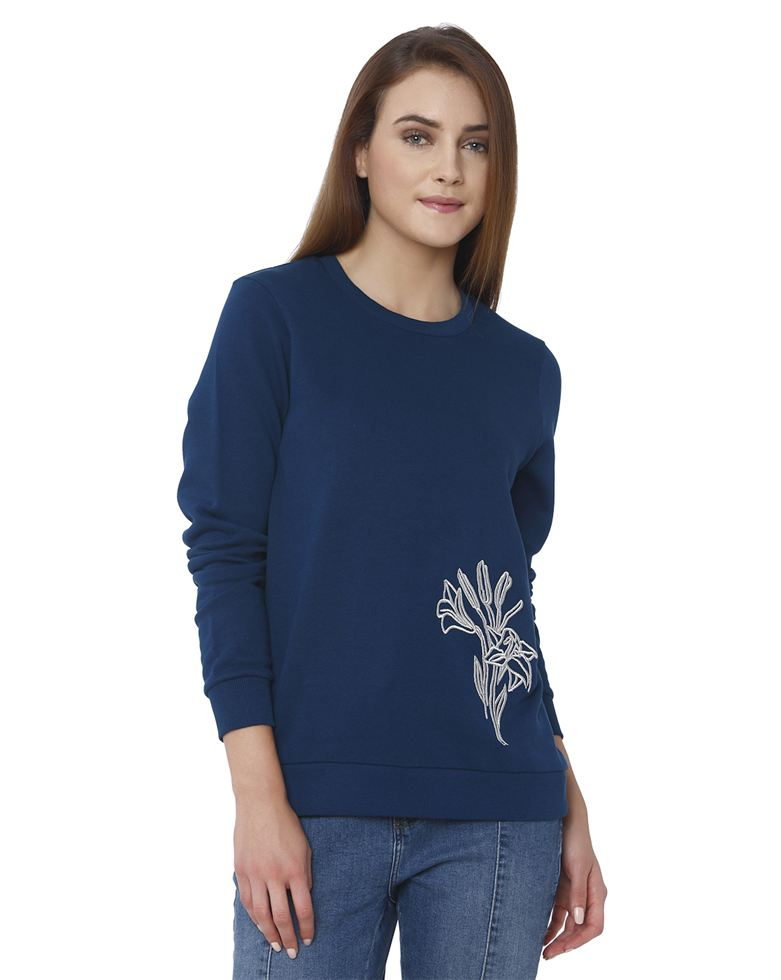 Vero Moda Women Blue Sweatshirt