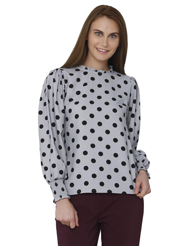 Vero Moda Women Casual Wear Polka Print Top