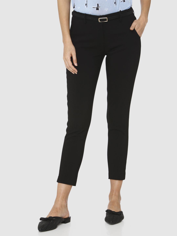 Vero Moda Women Solid Casual Wear Trousers