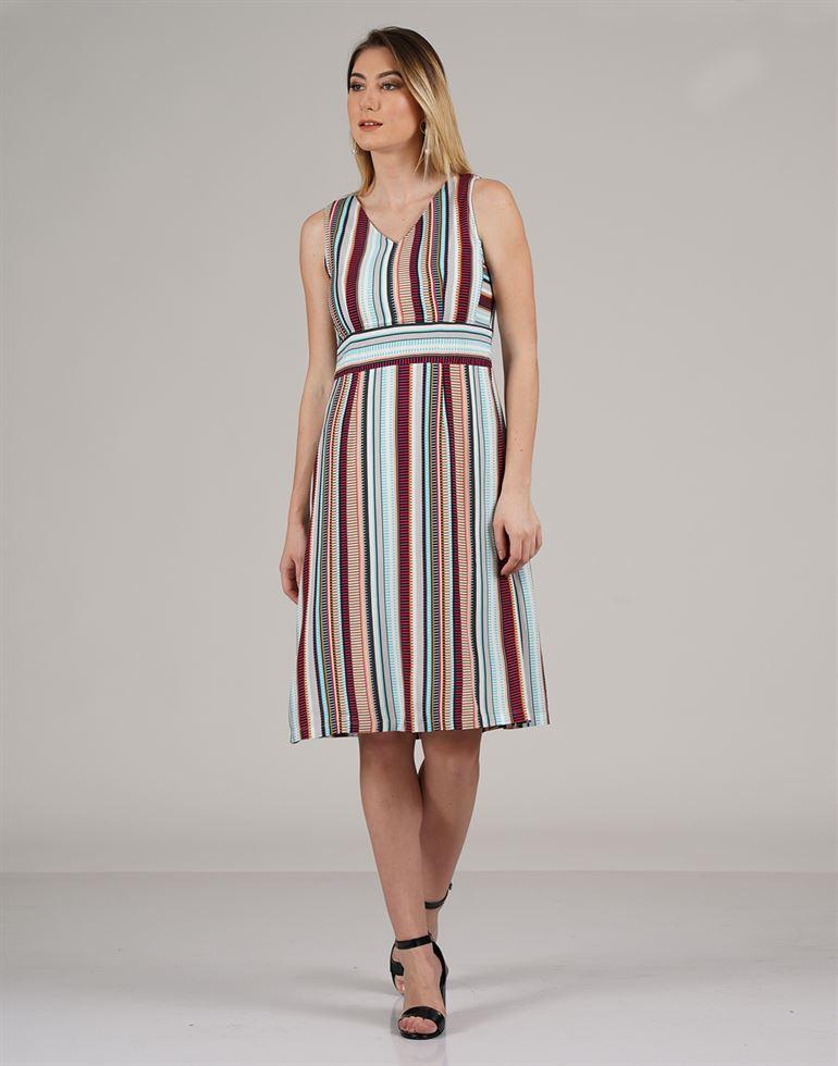 Zink London Casual Wear Striped Women Top