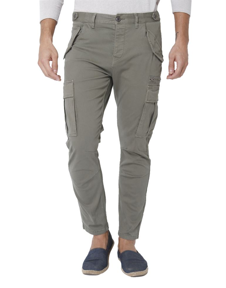 Selected Men Casual Wear Solid Cargo Pant