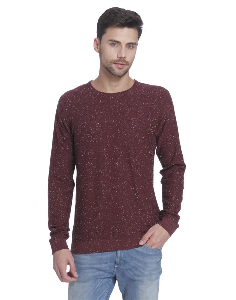 Only N Sons Men Casual Wear Solid Pullover