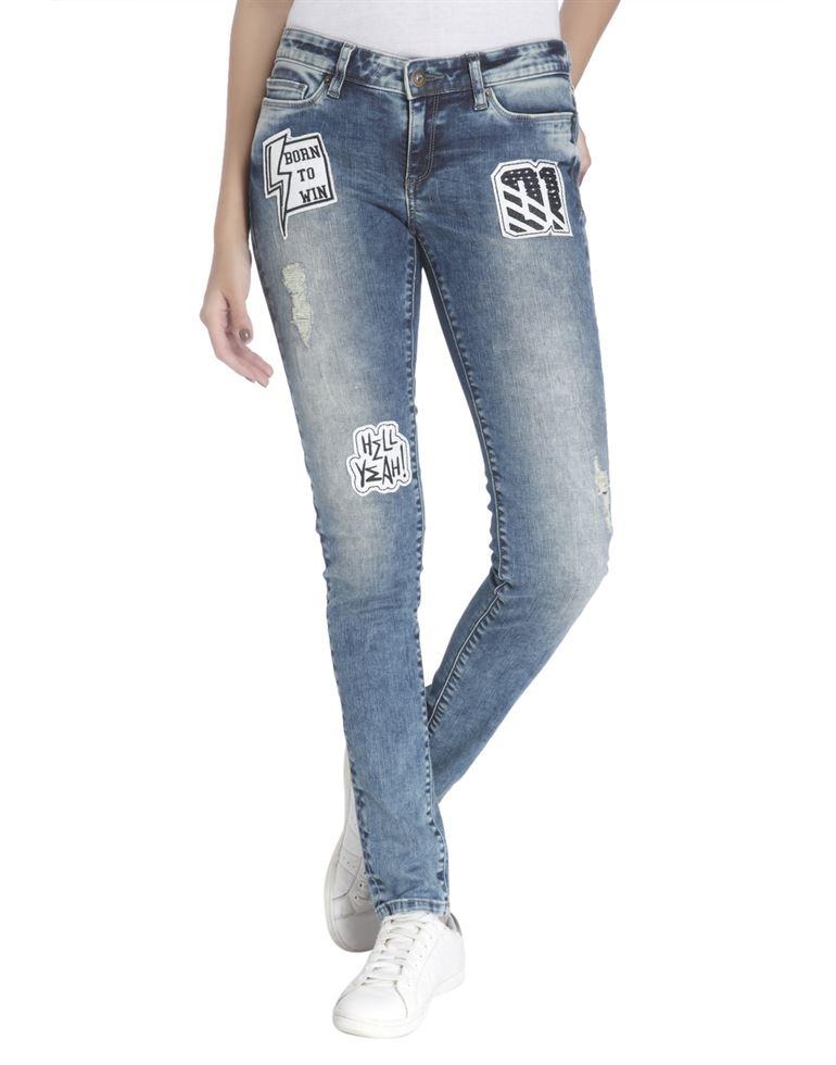 Vero Moda Women Casual Wear Applique Jean
