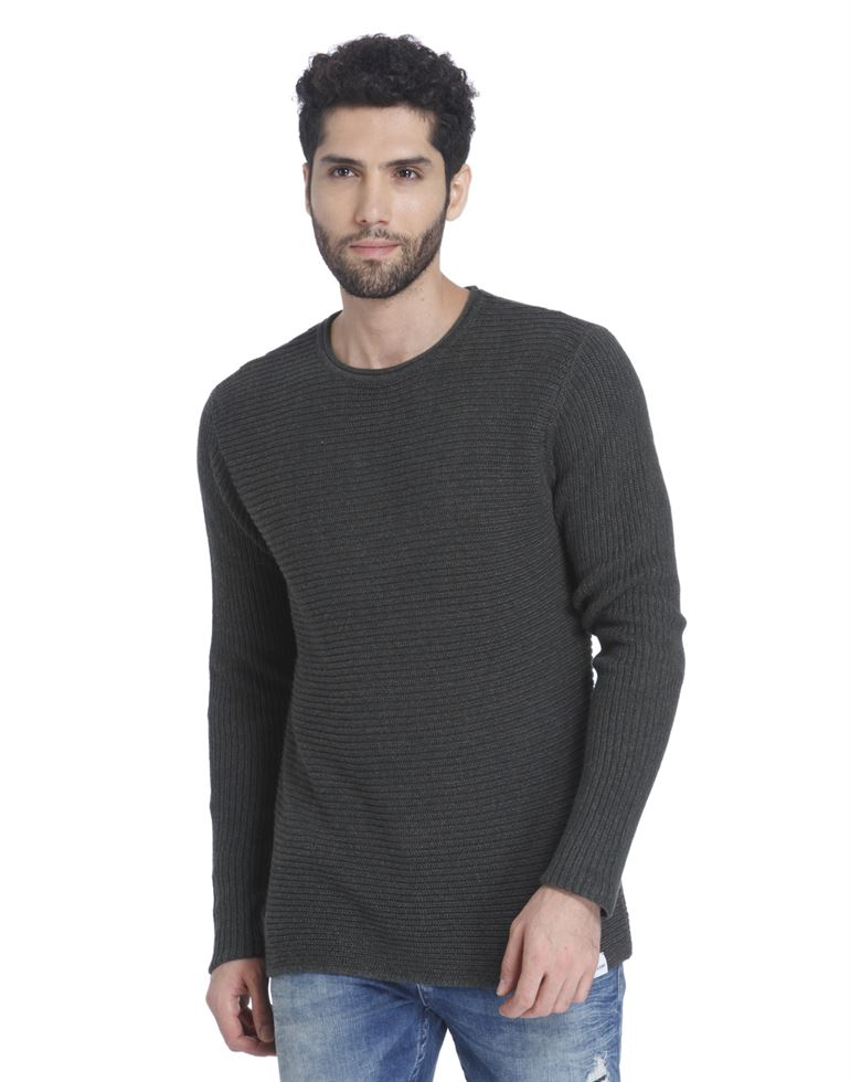 Only N Sons Men Casual Wear Textured Pullover