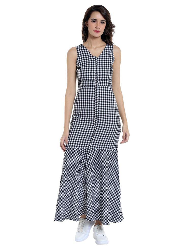 Vero Moda Women Casual Wear Checkered Dress