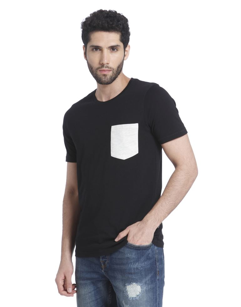 Only N Sons Men Casual Wear Solid T-Shirt