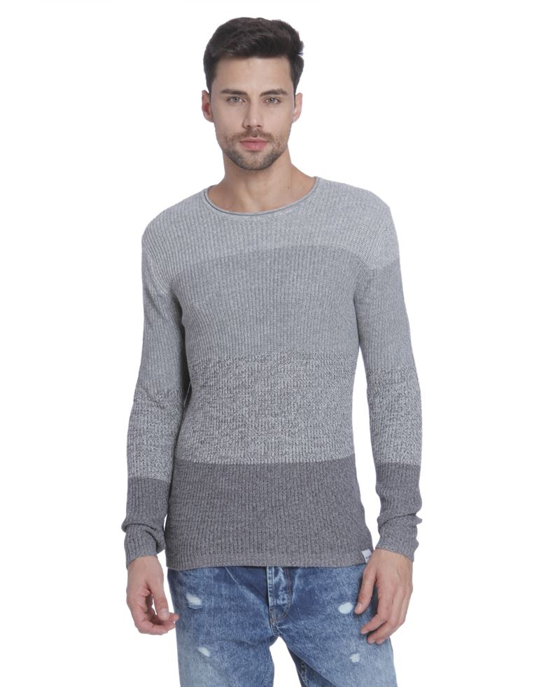 Only N Sons Men Casual Wear Striped Pullover