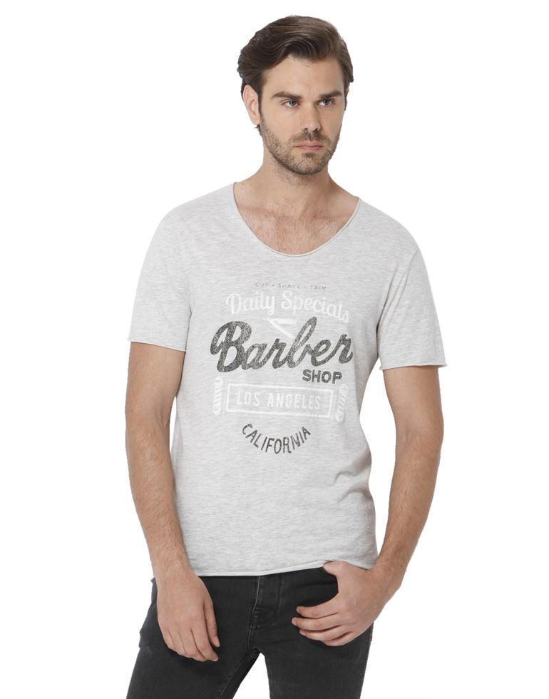Selected Men Casual Wear Graphic Print T-Shirt