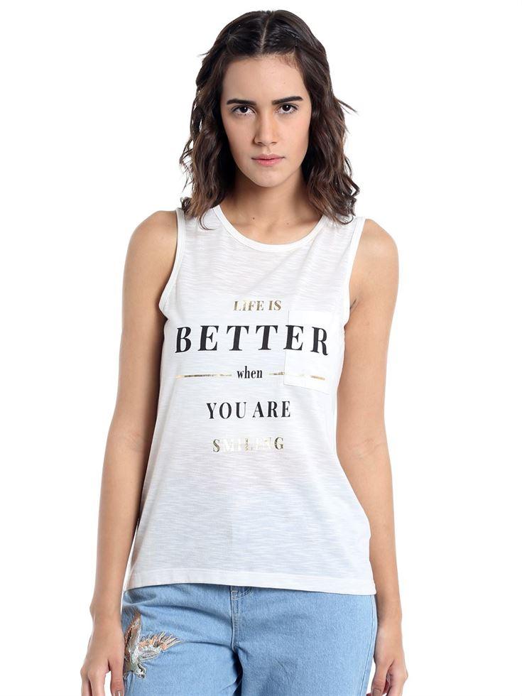 Vero Moda Women Casual Wear Graphic Top