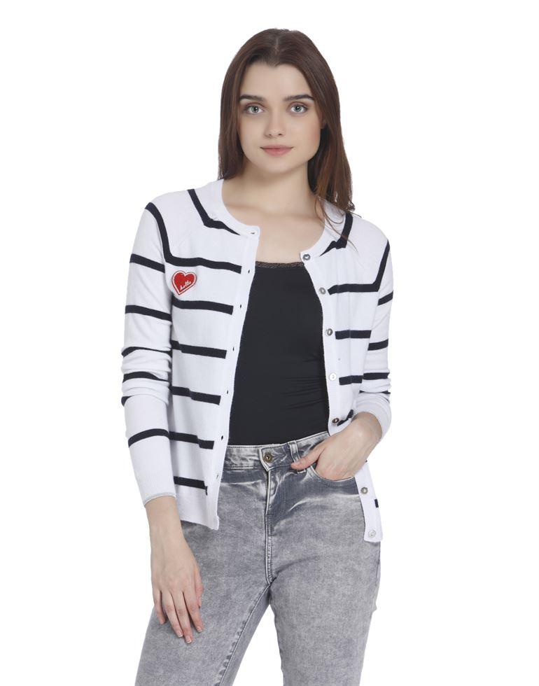 Vero Moda Women Casual Wear Striped Sweater