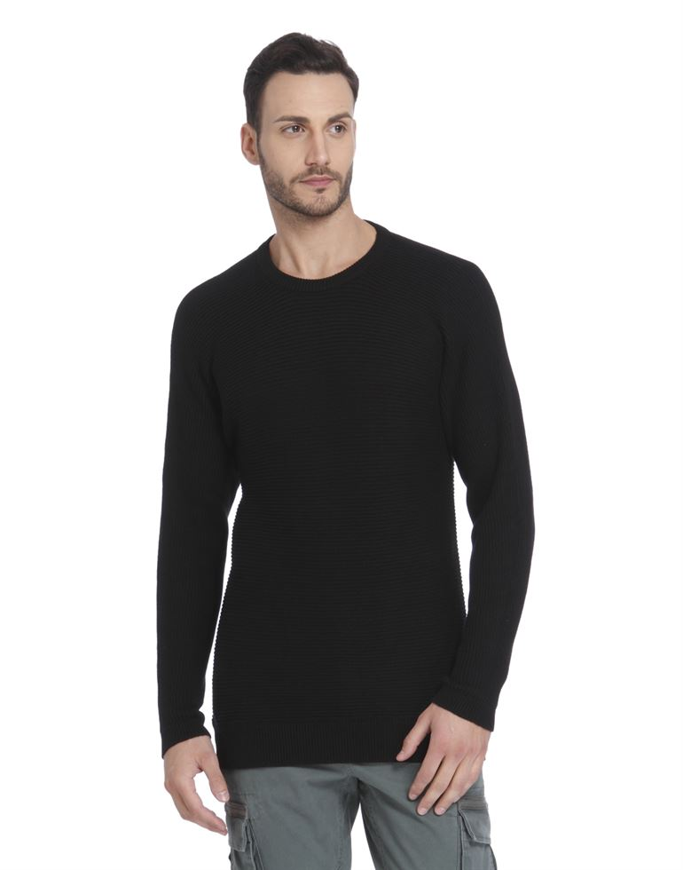 Only N Sons Men Casual Wear Solid Sweater