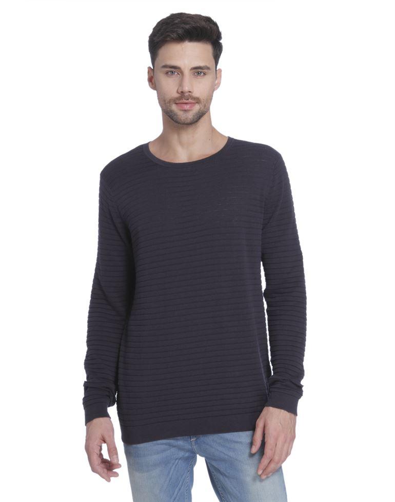 Only N Sons Men Casual Wear Striped Sweater