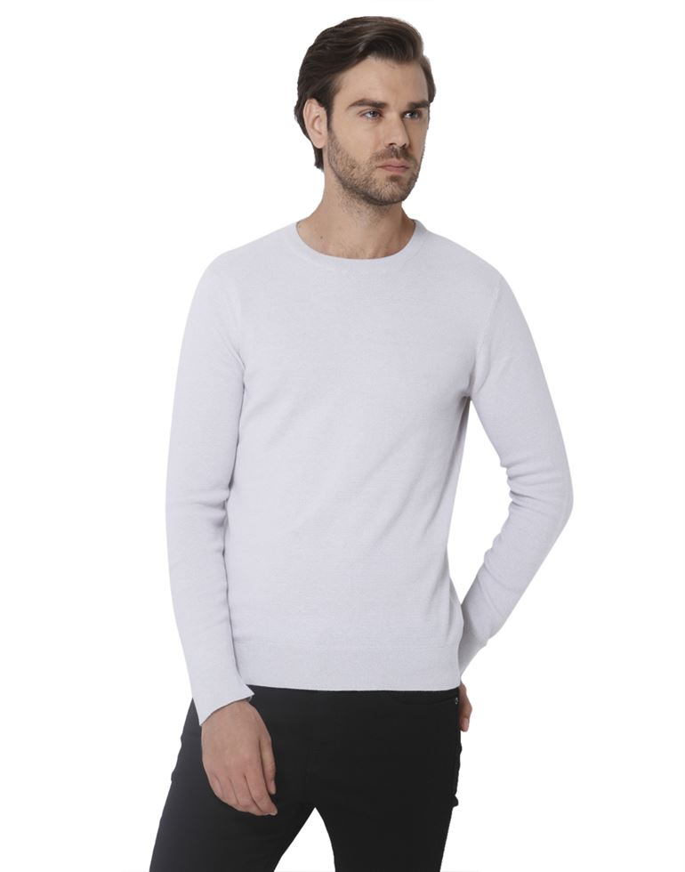Selected Men Casual Wear Solid Pullover