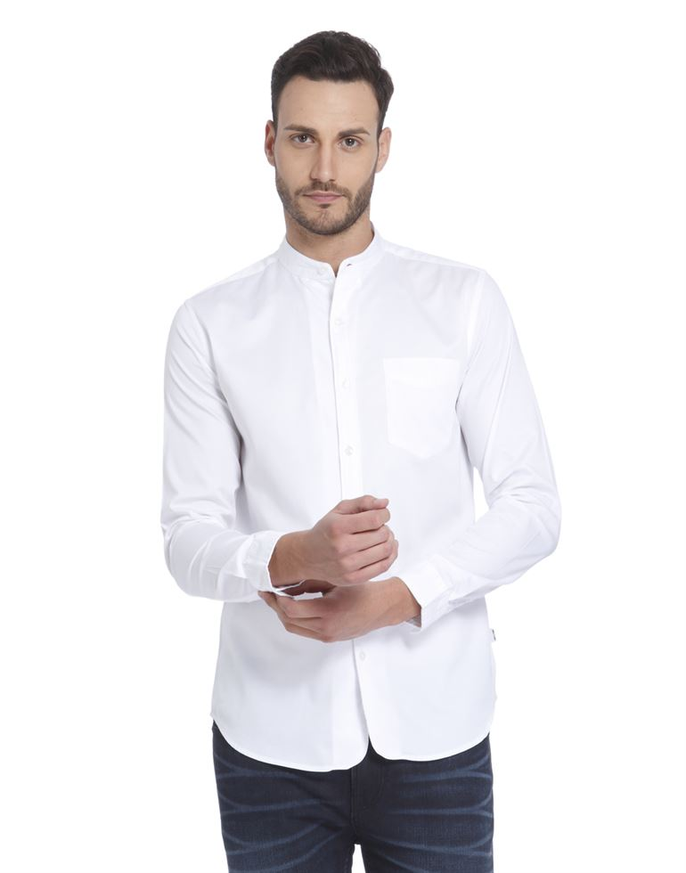 Only N Sons Men Casual Wear Solid Shirt