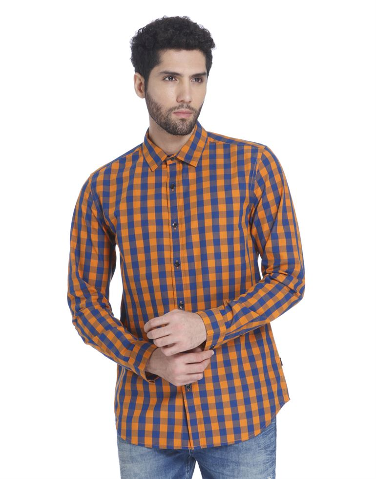 Only N Sons Men Casual Wear Checkered Shirt