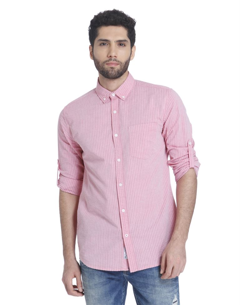 Only N Sons Men Casual Wear Striped Shirt