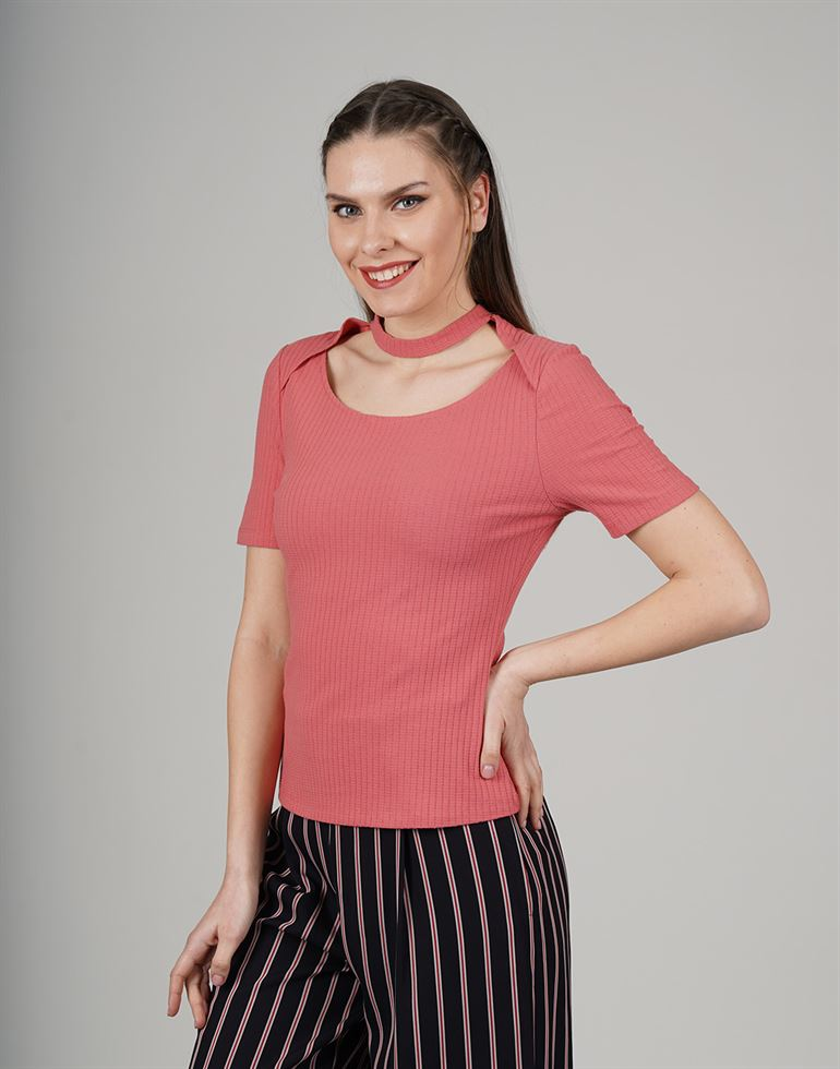 Cover Story Casual Solid Women T-Shirt
