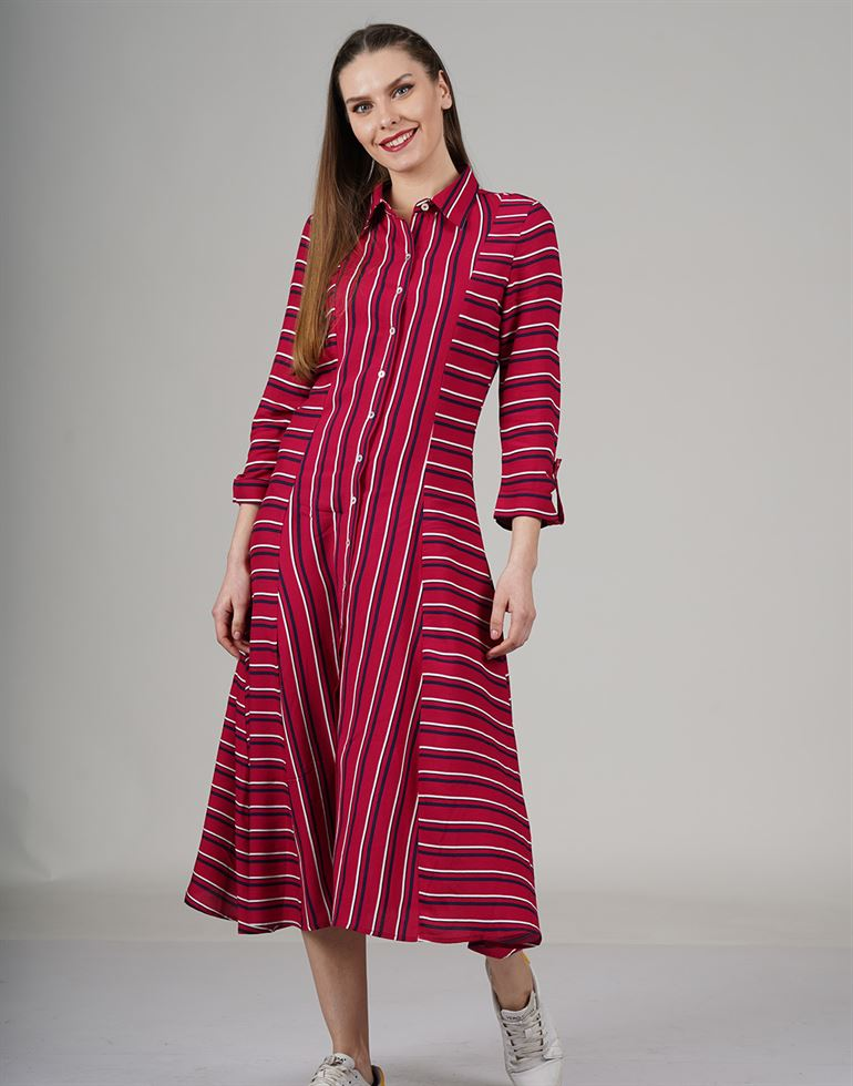 Cover Story Casual Striped Women Dress