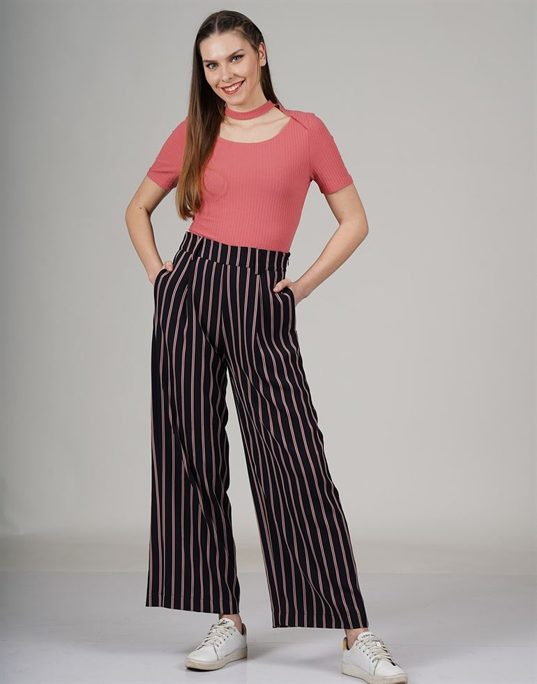 Cover Story Women Casual Wear Striped Trouser