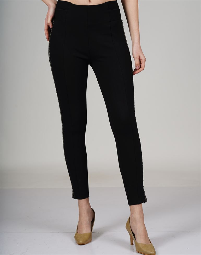 Cover Story Women Casual Wear Solid Trouser
