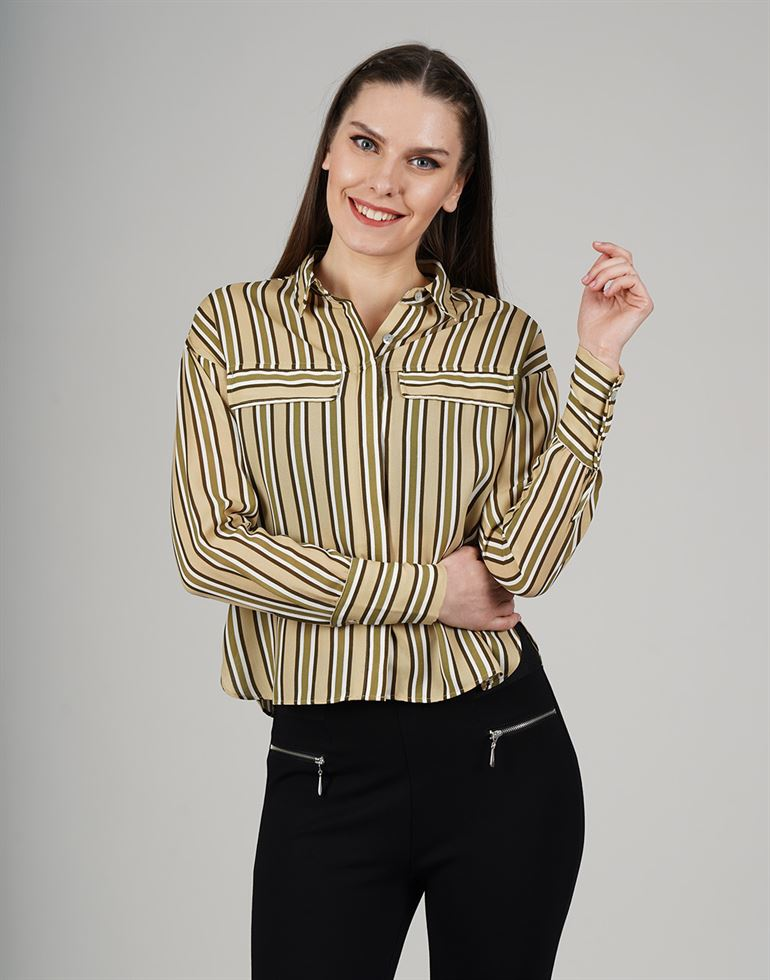 Cover Story Casual Striped Women Top