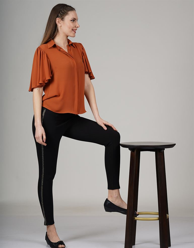 Cover Story Casual Solid Women Top