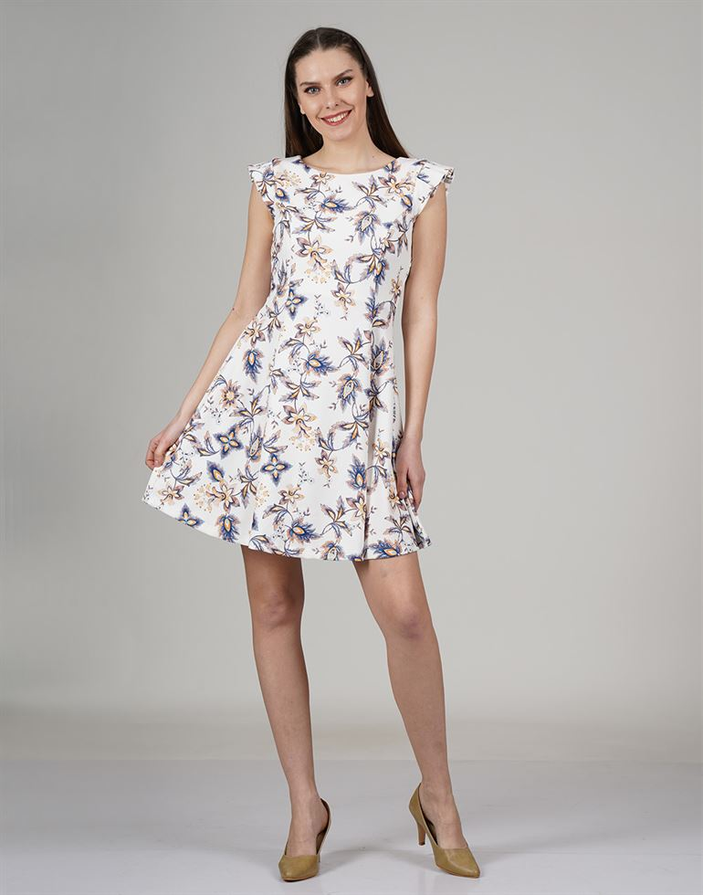 Cover Story Women Casual Wear Floral Print Dress