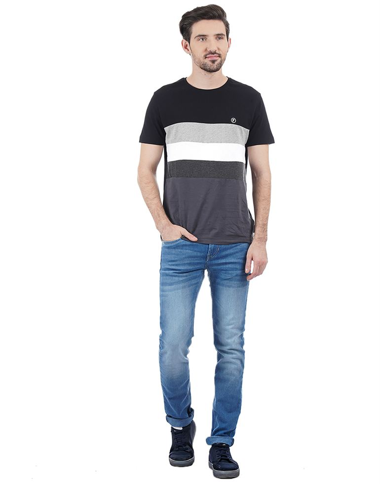 French Connection Casual Striped Men T-Shirt