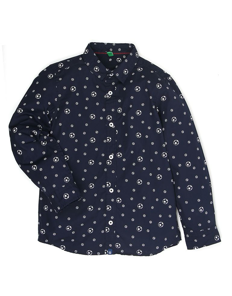 United Colors Of Benetton Casual Printed Boys Shirt