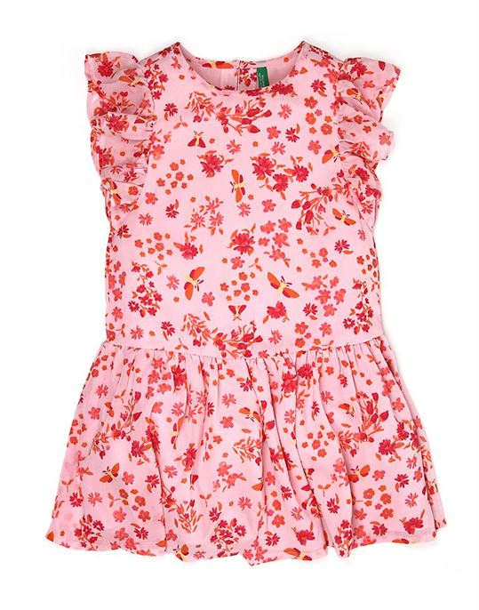United Colors Of Benetton Casual Printed Girls Dress