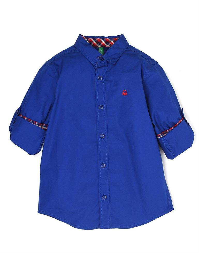 United Colors Of Benetton Casual Solid Boys Shirt