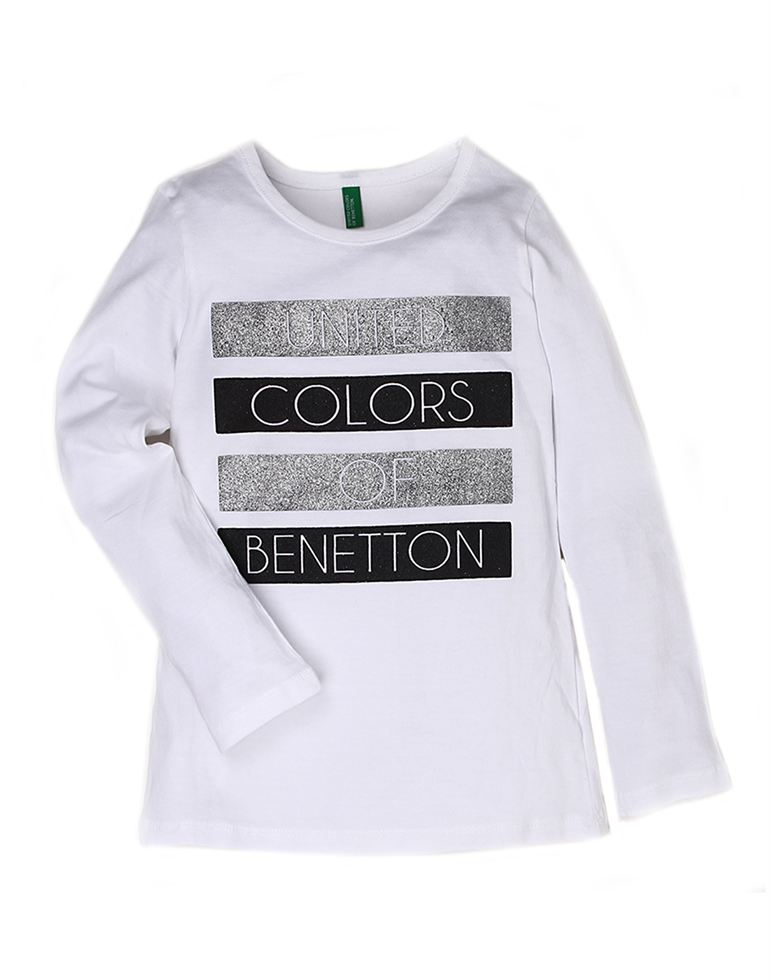 United Colors Of Benetton Casual Printed Girls T-shirt