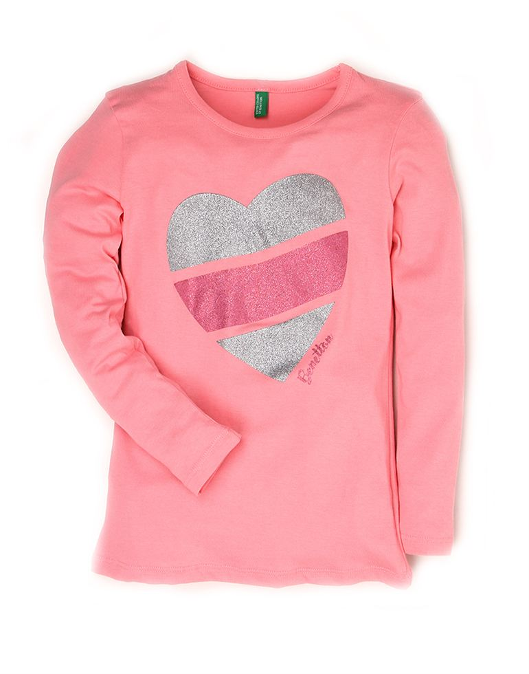 United Colors Of Benetton Casual Solid Girls T-shirt