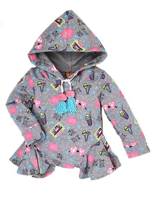Little Kangaroo Girls Casual Wear Printed Sweatshirt