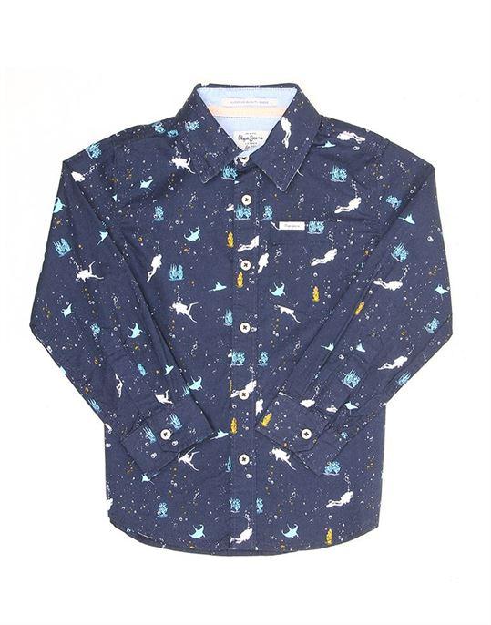 Pepe Jeans Boys Printed Casual Shirt